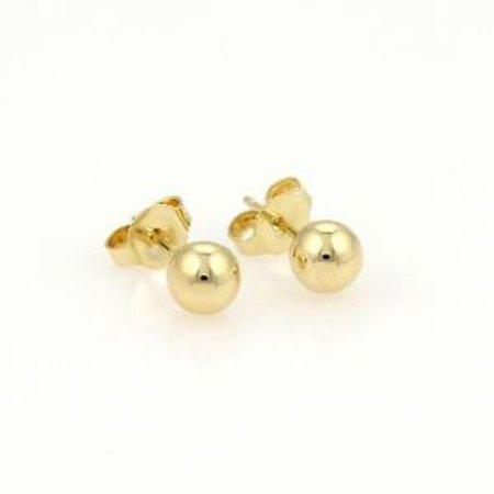 0010986664888 Tiffany & Co. 18k Yellow Gold 5.5mm Ball Beads Stud
