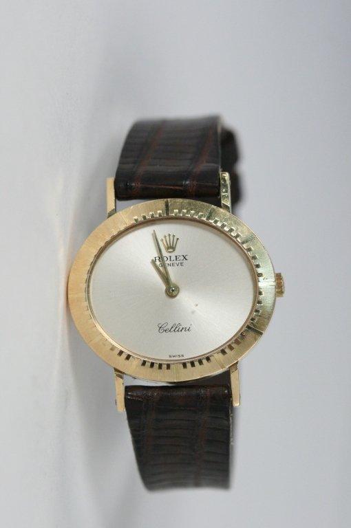 LADIES GOLD ROLEX - CELLINI WATCH