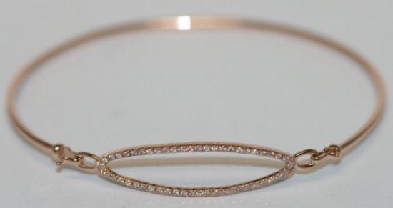 DESIGNER 14K ROSE GOLD BANGLE BRACELET