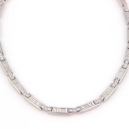 Tiffany & Co. 18K White Gold ATLAS Numerical Diamond
