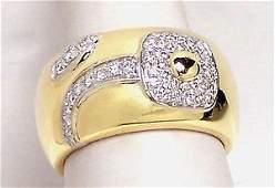 Vintage 18k Yellow Gold 62ct Diamond Designer Chimento