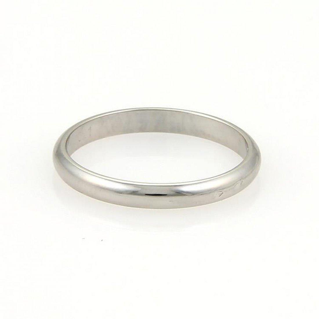 Platinum 2 5mm Plain Dome Wedding Band Ring