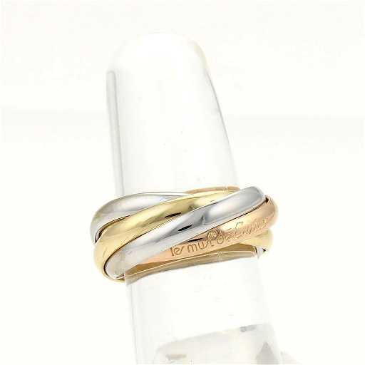 70f5f084c669 Cartier 18k Tri-Color Gold Trinity Rolling 5 Bands Ring