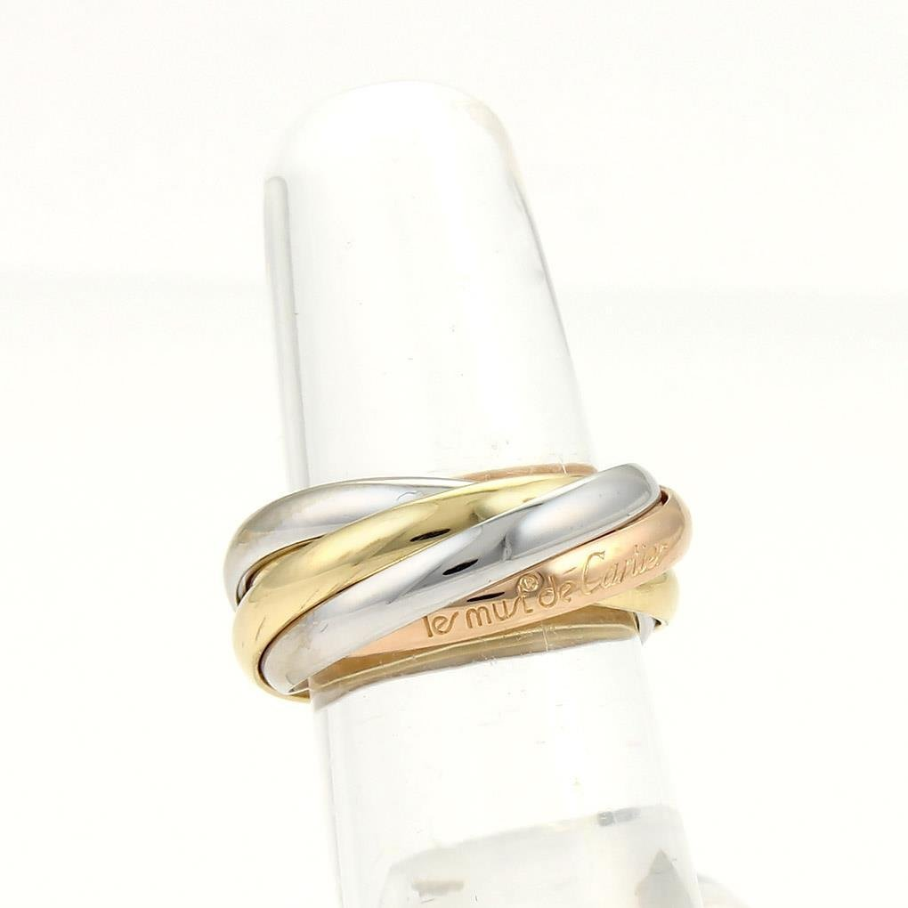 Cartier 18k Tri-Color Gold Trinity Rolling 5 Bands Ring