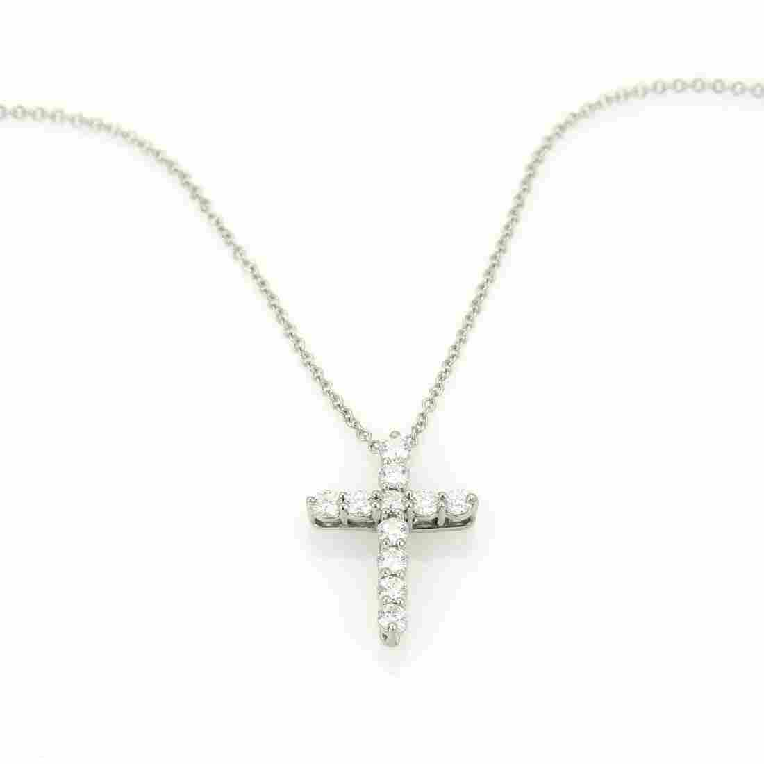 Retail $2,800 Tiffany & Co. Platinum & Diamond Cross
