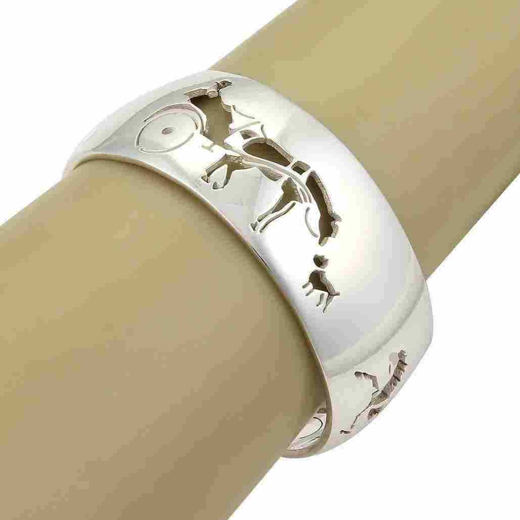 Vintag Hermes Horse & Carriage Cut Out Design 925