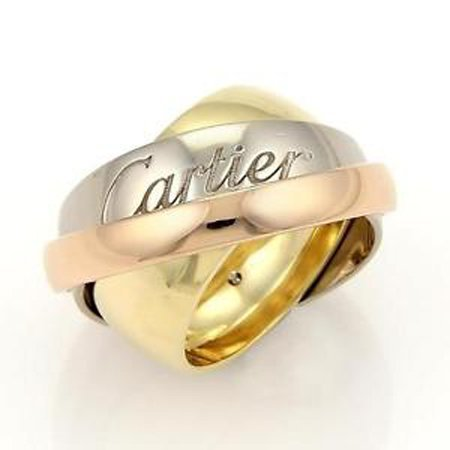 Cartier 18k Tri-Color Gold Trinity Graduated Bands Ring