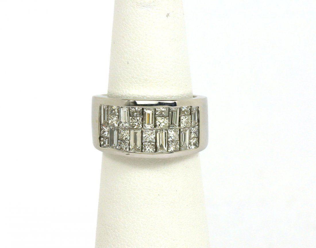 AMAZING SOLID 18K WHITE GOLD & 2.5 CARATS DIAMONDS