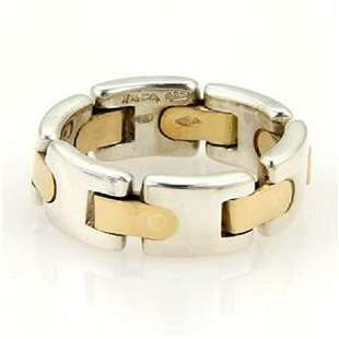Tiffany & Co. Italy Vintage 18k Yellow Gold Sterling Si