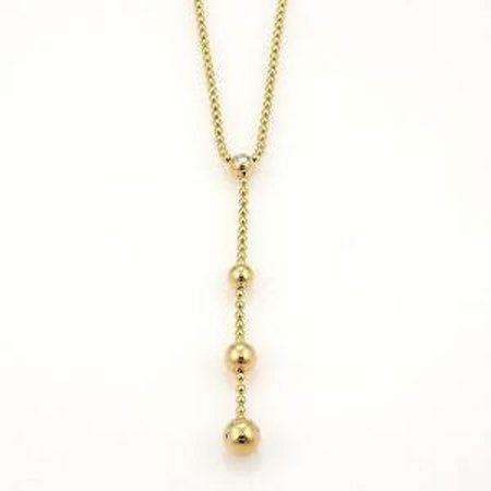 Cartier Diamond Balls Beaded Lariat 18k Yellow Gold