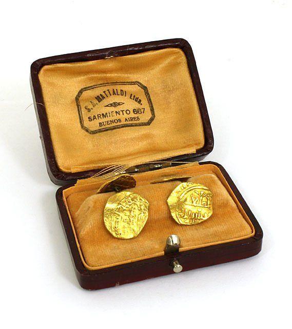 ANCIENT ANTIQUE 22K GOLD ARABIC COINS & 14K GOLD MEN'S