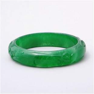 Fine Chinese jadeite bangle bracelet