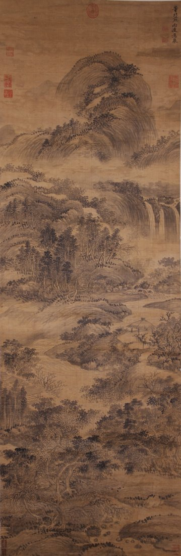 4612: Fine Chinese painting attributed to Wang Hui