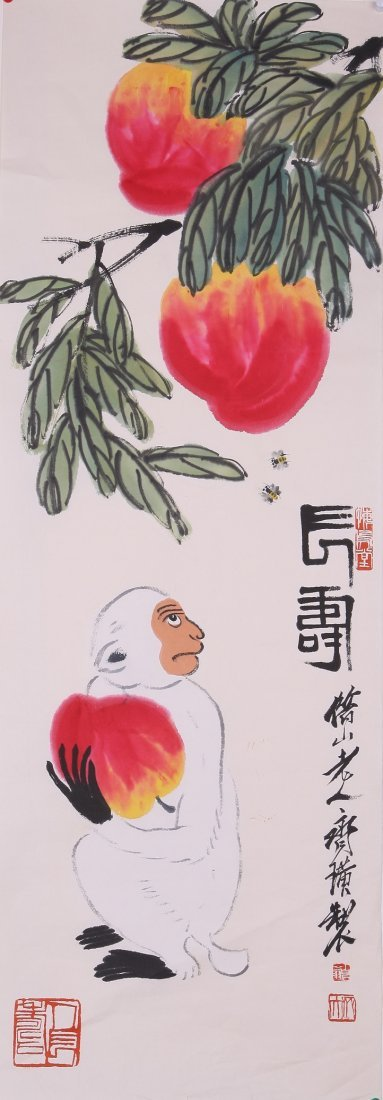 6027: A very fine Chinese painting attribyted to Qi Bai