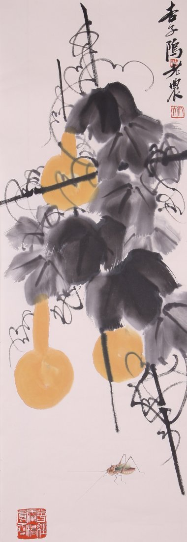 6103: A very fine Chinese painting attribyted to Qi Bai