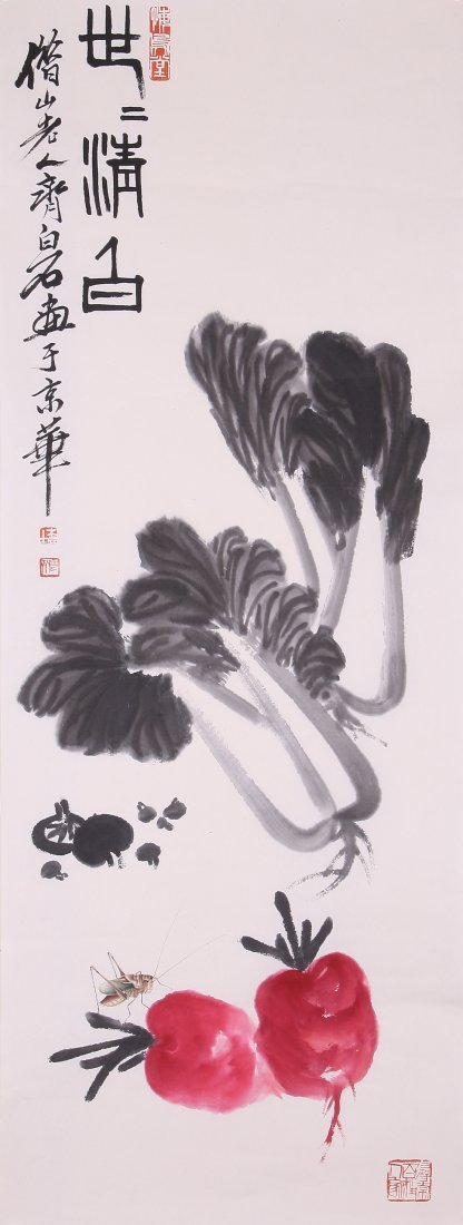 6104: A very fine Chinese painting attribyted to Qi Bai
