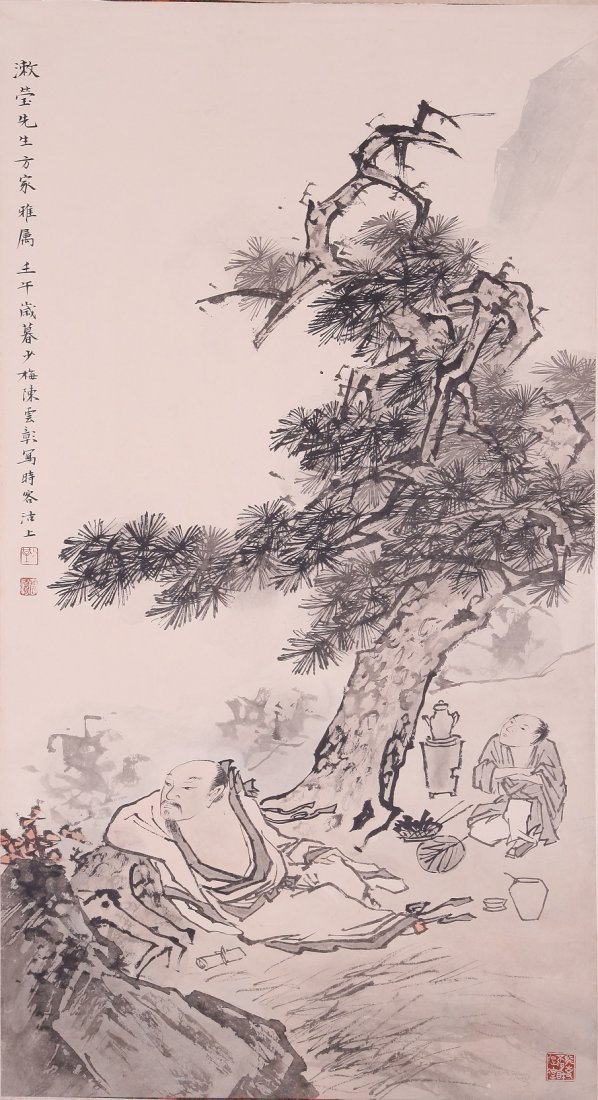 6109: A very fine Chinese painting by Chen Shaomai