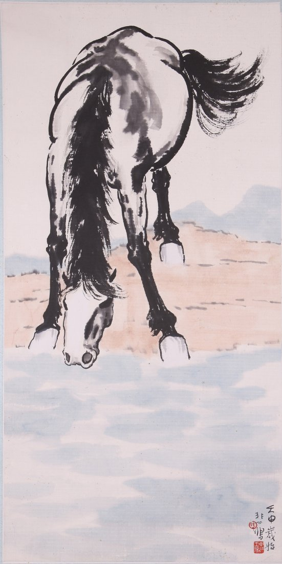 6114: A very fine Chinese painting attribyted to Xu Bei