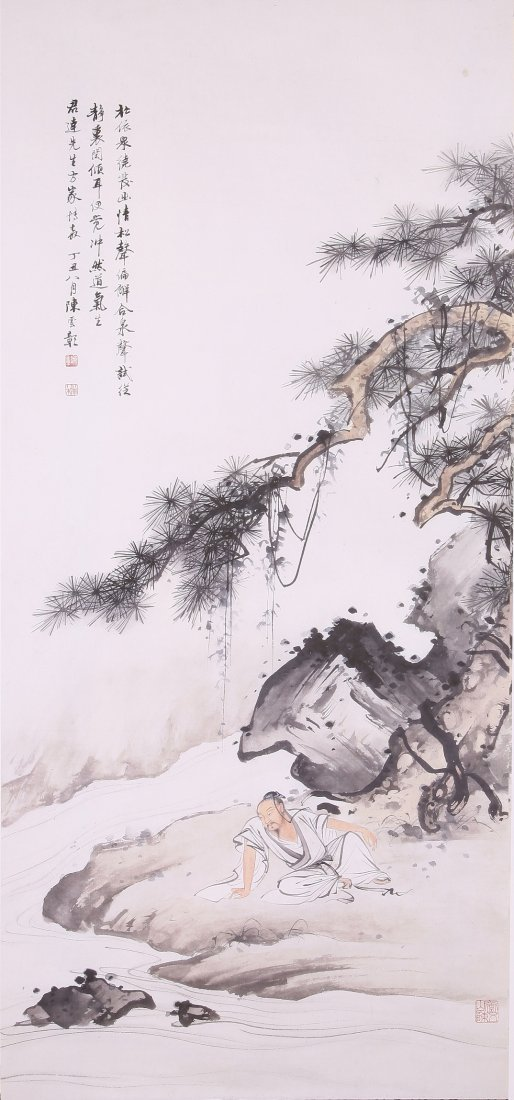 6120: A very Fine Chinese painting attribyte to Chen Sh