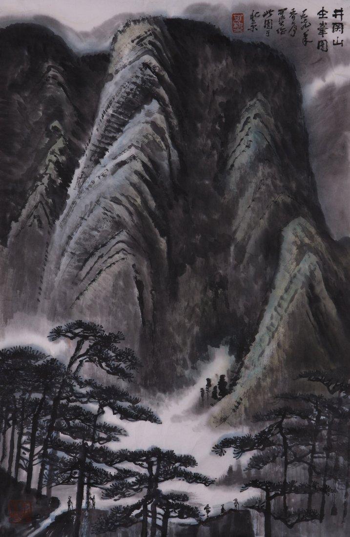 6595: A very fine Chinese painting by Li Keran