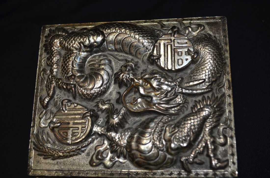 Finely carved silver box