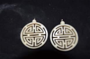 Ivory earring hangings