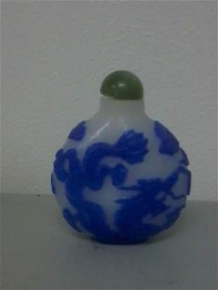 Very fine Chinese pecking glass snuff bottle