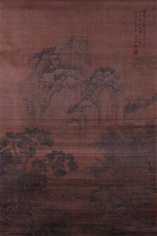 A very fine painting by Wang Shimin