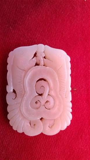 Pisces and Nephrite Pendant