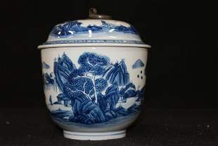 CHINESE PORCELAIN COVERD JAR