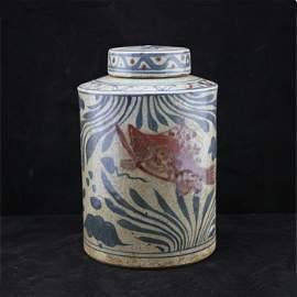 Yuan dynasty Qinghua Jar