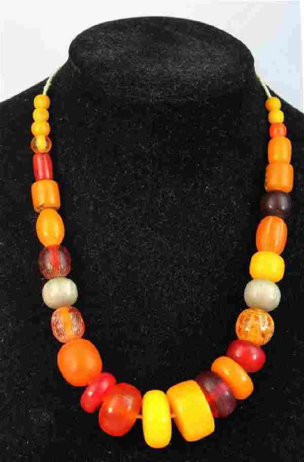 Vintage Natural Egg Yolk Baltic Amber Bead Necklace
