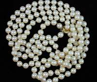 Vintage Double Natural Pearl Bead Necklaces
