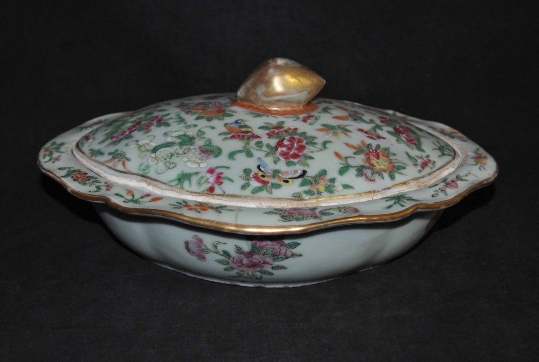 12: Chinese porcelain bowl with cover