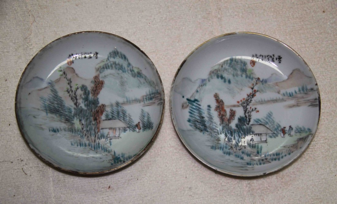 55: 2 Chinese Porcelain Plates