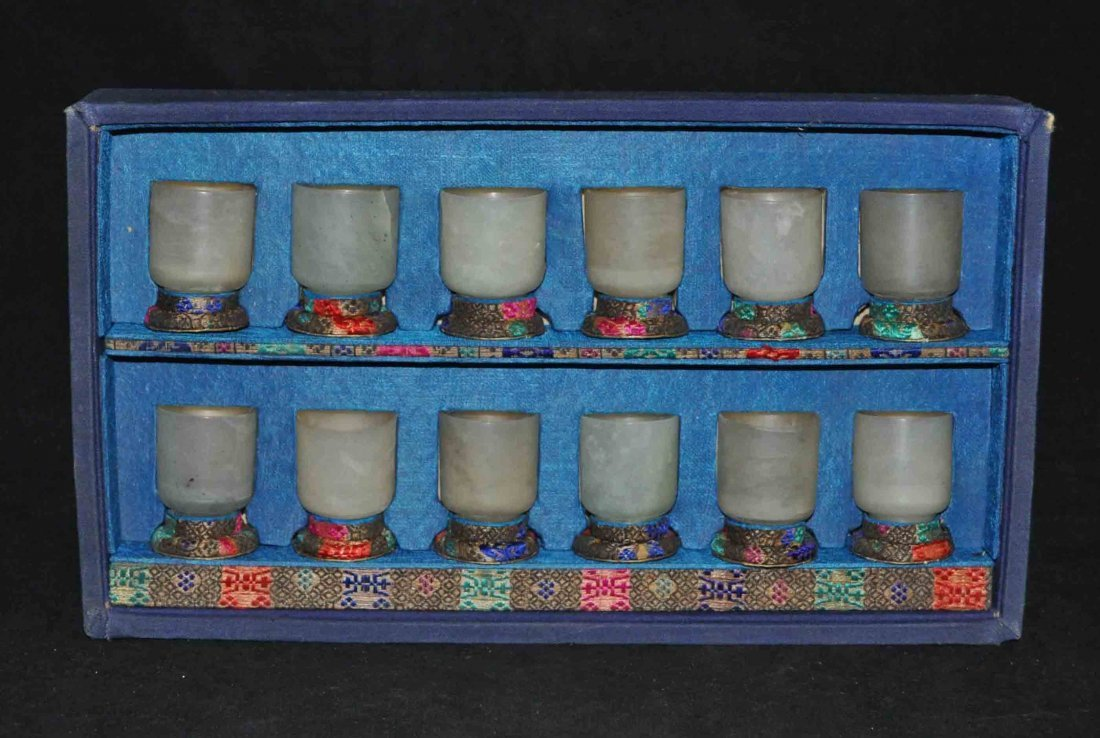 21: Chinese Carved Jade Cups