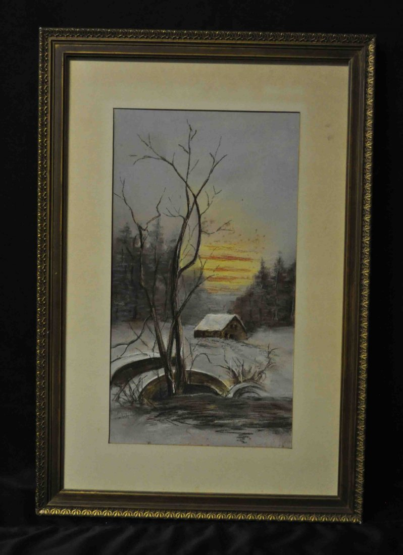 Pastel Painting w. Frame