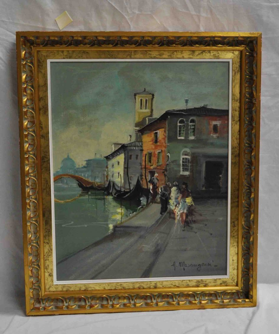 Western Oil Painting with Frame