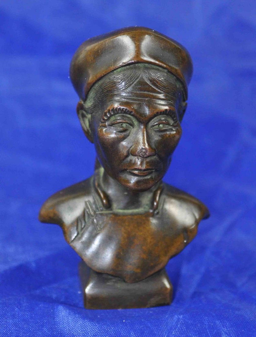Bronze Chinese Old Man Statue