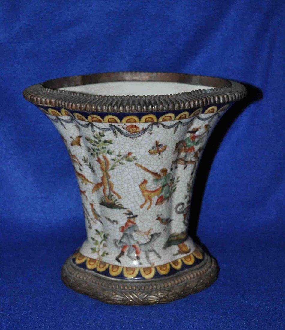Chinese Porcelain Flowerpot w. Mark