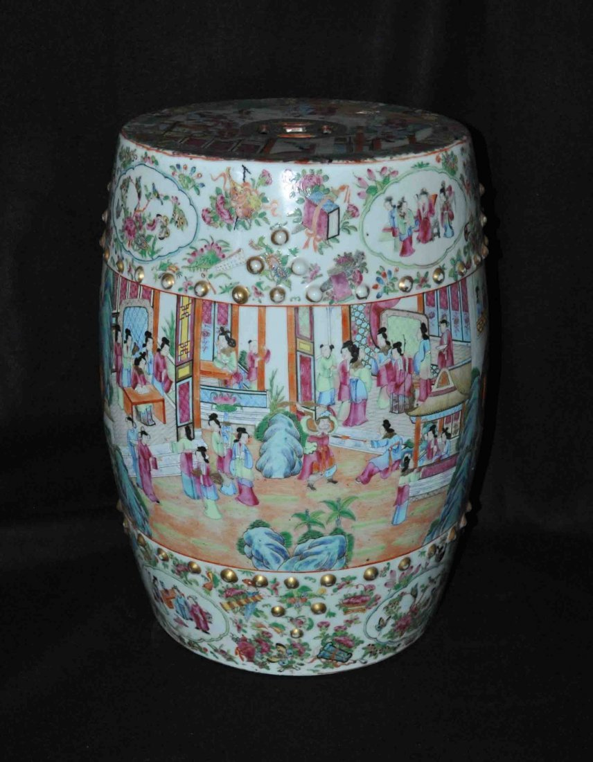 Chinese Porcelain Garden Stool Seat End Table