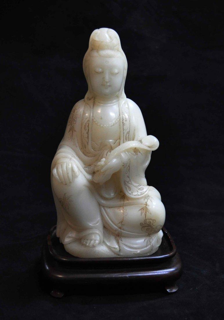 Chinese Carved Jade Buddha Statue