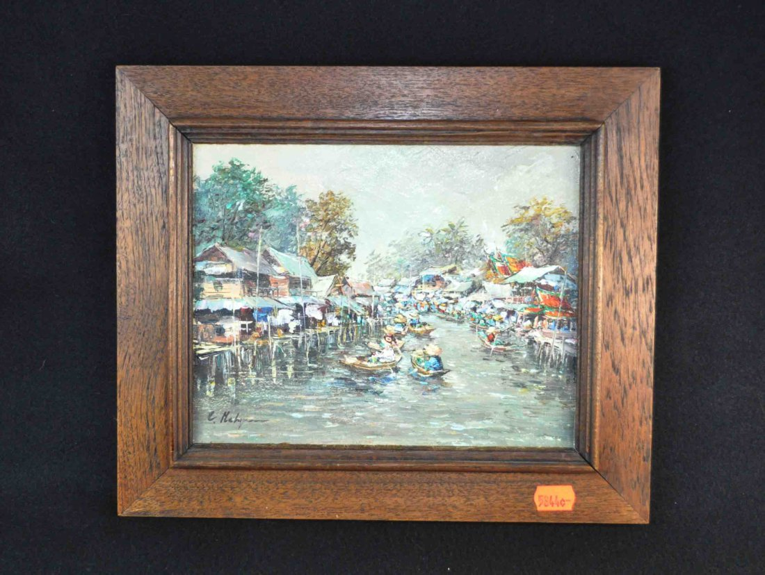 Western Oil Painting w. Frame