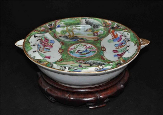 Chinese Porcelain Preserve Heat Plate