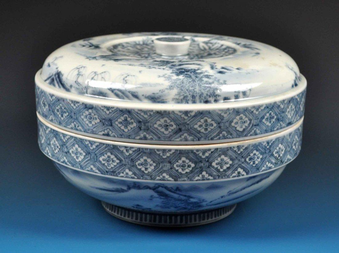 Large Japanese Porcelain Box