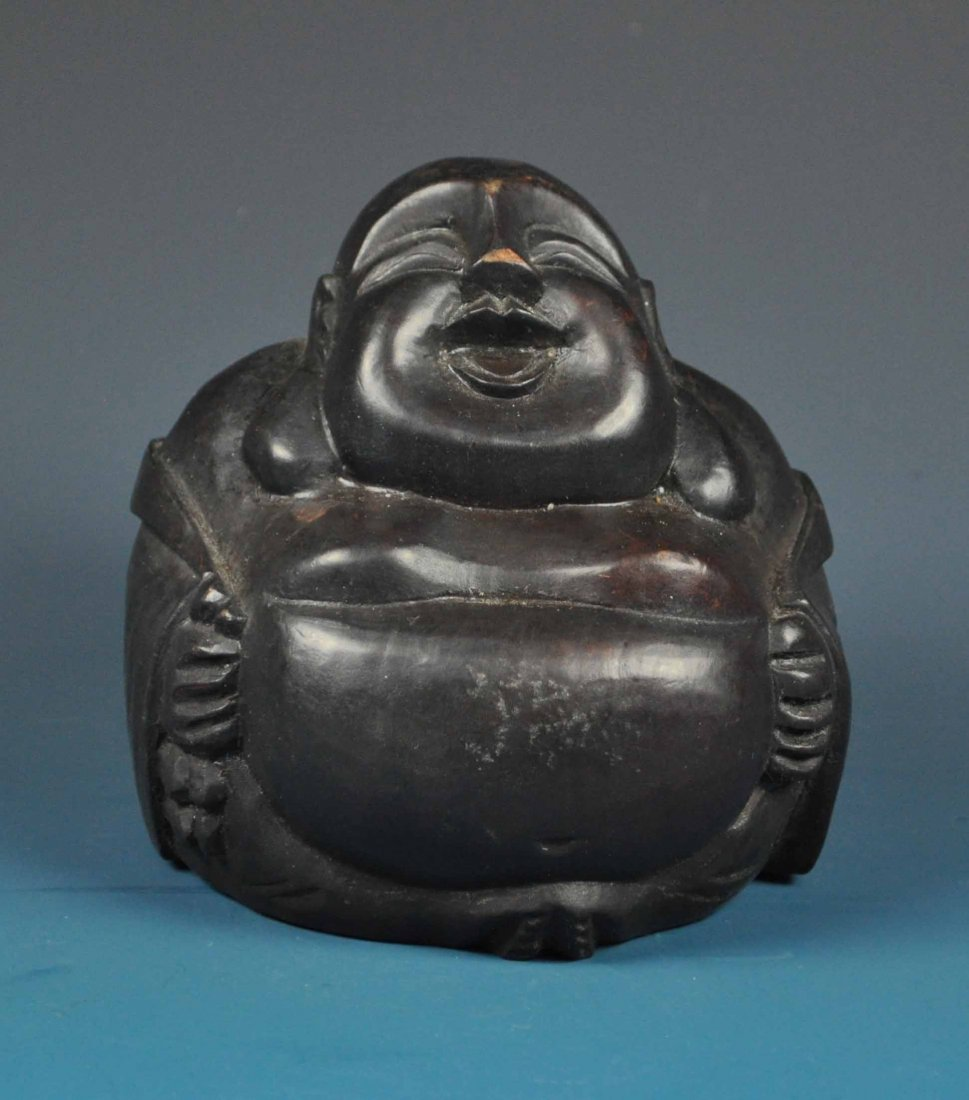 Chinese Carved Wood Statue Buddha