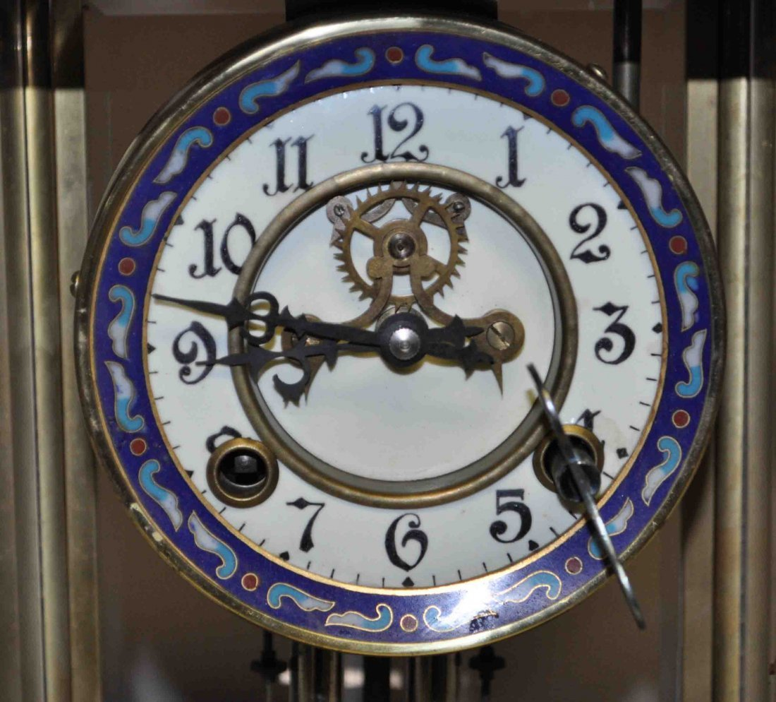 Chinese Cloisonne Clock - 3