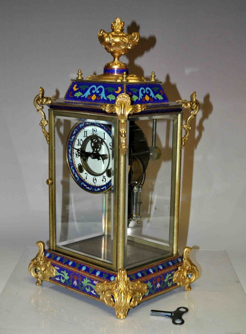 Chinese Cloisonne Clock - 4
