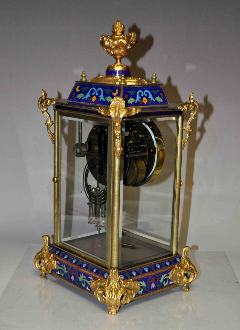 Chinese Cloisonne Clock - 8