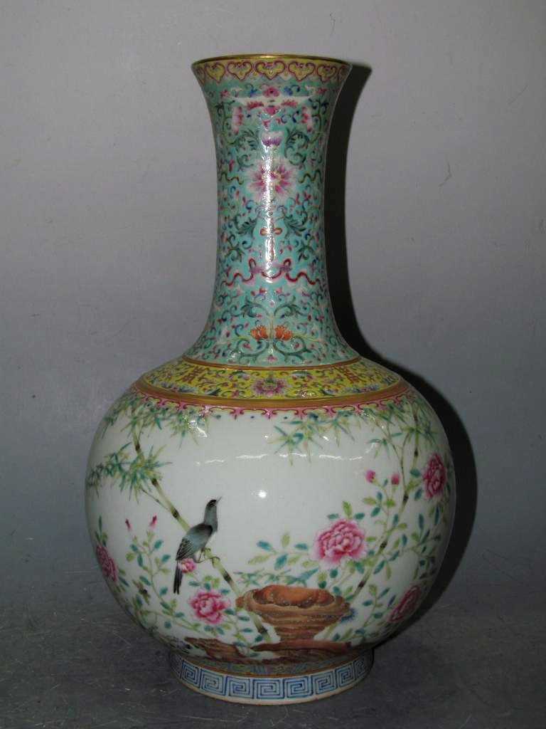 Chinese Porcelain Vase Marked